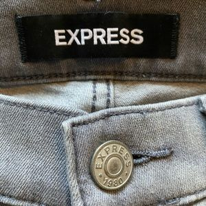 Express Jeans - Express Gray Stretch Legging Jeans